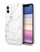 "Capa Iphone 11 6.1"" GUESS Marble GUHCN61PCUMABK Branco em Blister"