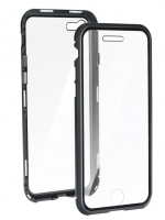 Capa Iphone XR  360 Full Cover Magnetica + Tpu  Preto/Transparente