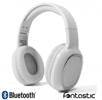 Headphones Bluetooth e Micro Fontastic Splend Bass Boost Stereo Brancos
