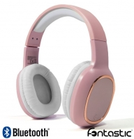 Headphones Bluetooth e Micro Fontastic Splend Bass Boost Stereo Rosas