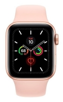 Apple Watch Series 5 GPS 44mm Gold Aluminium Case Pink Sand Sport Band