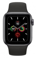 Apple Watch Series 5 GPS 44mm Space Grey Aluminium Case BlackSand Sport Band