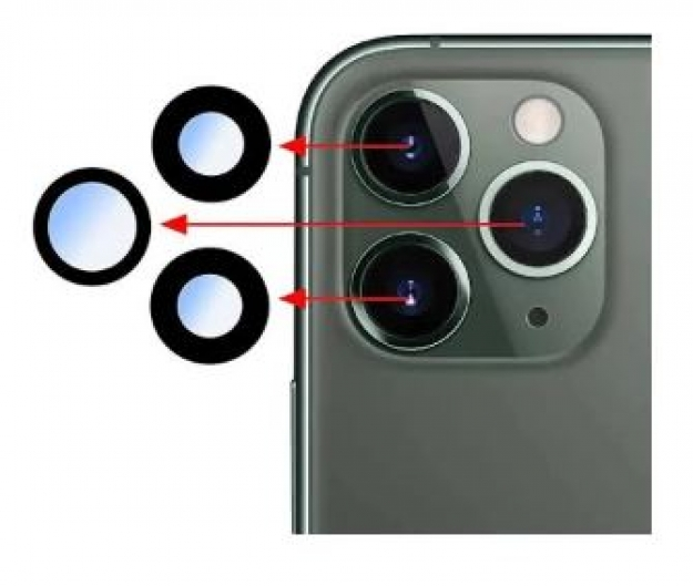 Vidro de Camara Iphone 11 Pro, Iphone 11 Pro Max