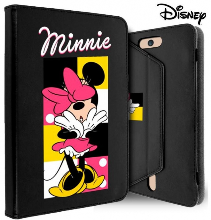 Capa para Tablet 7  Flip Book Licenciada Disney Minnie Preto