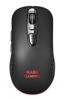 Rato Mars Gaming MMW2 3200DPI RGB Wireless Preto