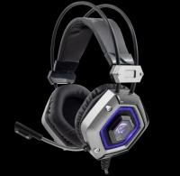 Headphones WHITE SHARK GAMING GH-1841 LION Silver - PC, Mac, PS4
