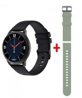 """Smartwatch IMILAB KW66 1.28"""" 3D HD Preto (OFERTA Bracelete Verde)"""
